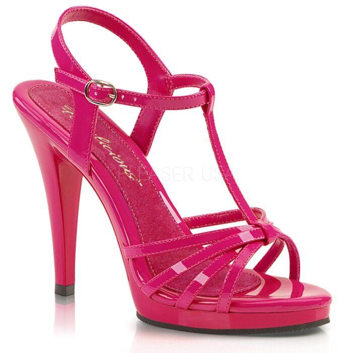 FLAIR-420 Hot Pink | Fabulicious sandalen | Pleaser hakken