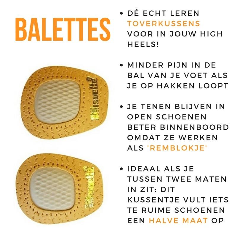 Balettes - een beter alternatief voor gelkussentjes! Tegen pijn in je voeten.