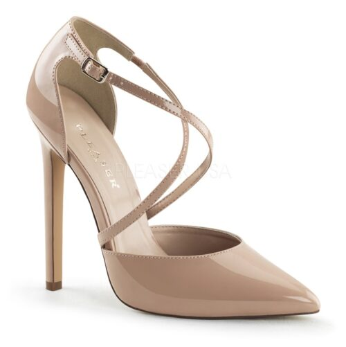 Nude kleurige SEXY-26 Criss Cross pumps