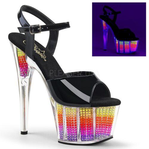 ADORE-709 SRS | Lichtgevende dansschoenen met regenboog plateau