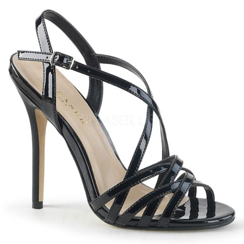 Pleaser AMUSE-13 | Criss-cross sandaaltjes met hoge stiletto hakken