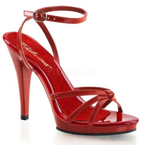 Rood Lak Sandaaltje met naaldhakken
