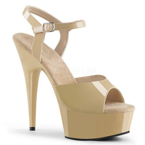 DELIGHT-609 | Nude starters paaldans schoenen met plateau