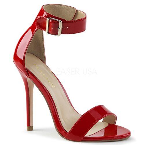 AMUSE-10 Rood lak sandaal met hoge naaldhak