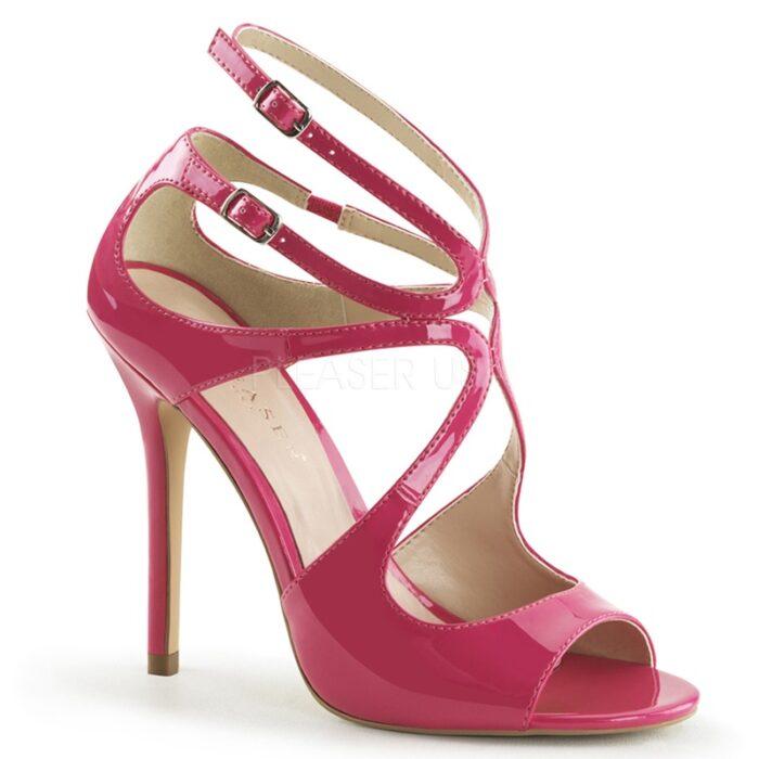 AMUSE-15 Fuchsia roze sandaaltje met naaldhak   Sexyhogehakken.nl