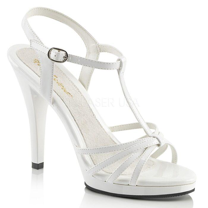 FLAIR-420 wit | Witte sandaaltjes met naaldhakken in grote maten