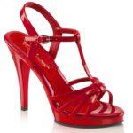 FLAIR-420 Rood | Rode sandaaltjes met hoge hakken in grote maten