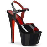 SKY-309 TT Red metallic | Dansschoenen met plateau | Pleaser
