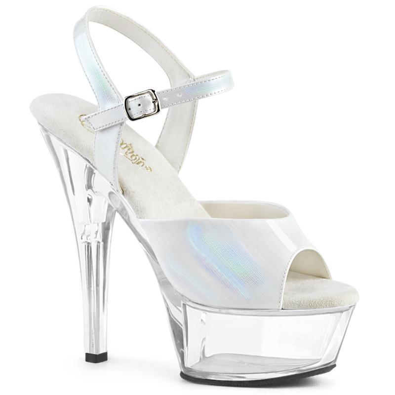 KISS-209 BHG | Parelmoer witte dansschoenenen met hologram upper