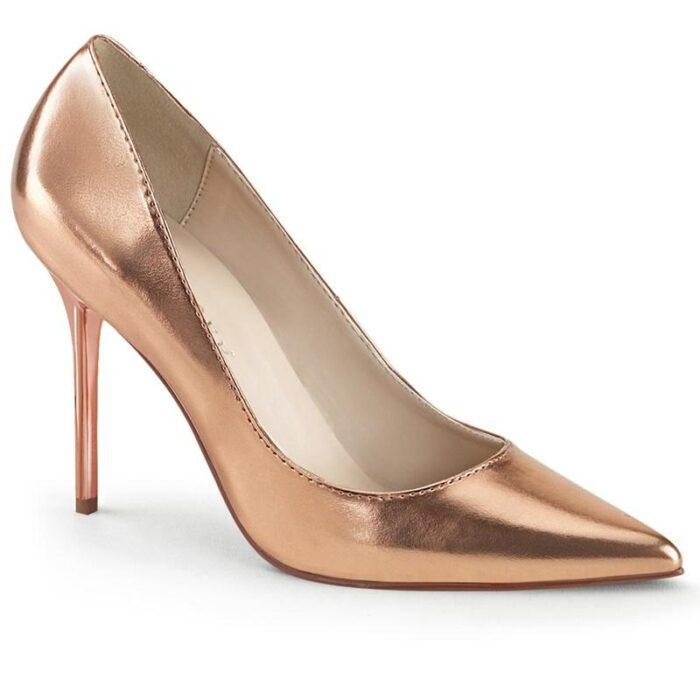 CLASSIQUE-20 | Rosé gouden pump met naaldhak | Klassieke pump rosé