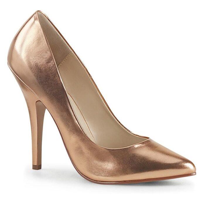 SEDUCE-420 | Rose gold pump in grote maten | Pleaser pumps