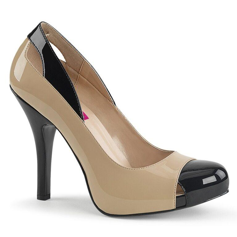 EVE-07   Nude cut-out pumps voor brede voet