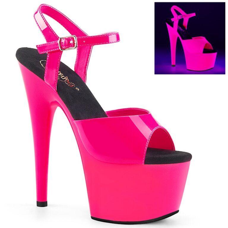 Pleaser ADORE-709 UV   Neon roze paaldans hakken